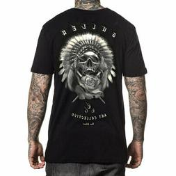 Sullen Men's Silver Chief Short Sleeve T Shirt Black Clothin
