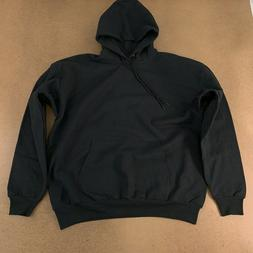 Hanes Men's Size XL Black Ecosmart Fleece Pullover Hooded Sw