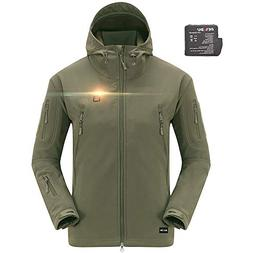 DEWBU Men's Soft Shell Heated Jacket with Battery Pack DB-12