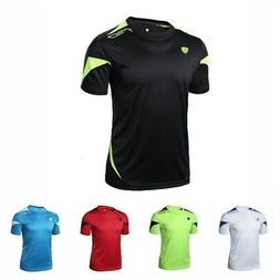 Men's Sports T-shirt Compression Quick Dry Fitness Running C