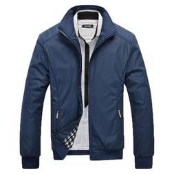 Men's Spring Jacket Coat Wear Autumn Clothing Mandarin Colla