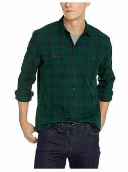 Goodthreads Men's Standard-Fit Long-Sleeve Plaid Herringbone