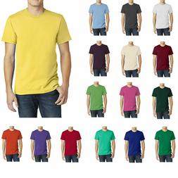 American Apparel Men's T-Shirt Crew Neck Cotton Tee Fine Jer