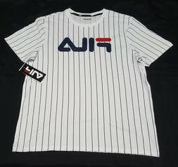 FILA Men's T-shirt - Stripes Logo- Active Sports Apparel Bas
