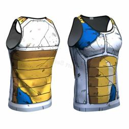 Men's Tank Top Sport Dragon  Ball Z Vegeta Sleeveless Vest T