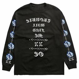 Old English Brand Men's Trouble Long Sleeve T Shirt Black Cl