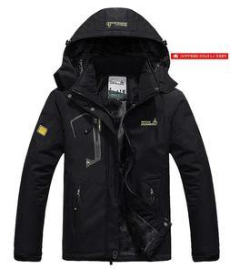 Pooluly Men'S Waterproof Windproof Rain Snow Jacket Hooded F