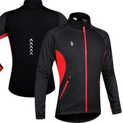 Men's Wind Jackets Cycling Fleece Coat Winter Windproof Ther