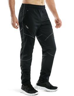 TSLA Men's Windproof Cycling Thermal Fleece Winter Pants Run