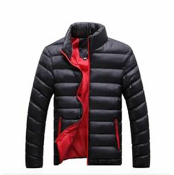 Men's Winter Casual Jackets Polyester Cotton Parka Outerwear