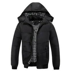 Men's Winter Warm Cotton Coat Casual Jacket Thicken Hooded O
