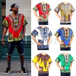 Men's Women's African Dashiki Shirts Dress Boho Hippie Kafta