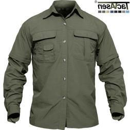 Men's Outdoor Tactical Work Shirts Hiking Fishing Walk Shirt