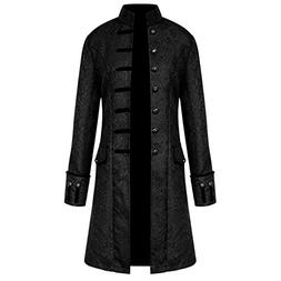 Goddessvan Men Steampunk Vintage Jacket Halloween Costume Re