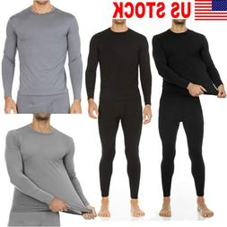 Men Thermal Underwear Stretch T-Shirt Long Sleeve Tops Sleep