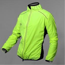 Men Windproof Long Sleeve Cycling Jacket Jersey Bike Wind Ra