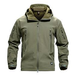 men windproof softshell tactical hoodie fleece hunting