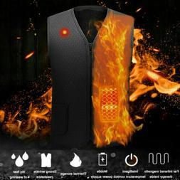 Men/Women Heated Vest Warm Body Electric USB Winter Heating
