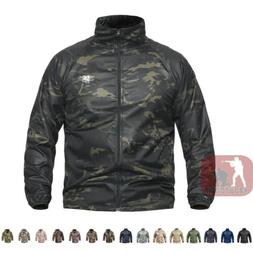 Mens Army Outdoor Jacket Tactical Coat Lightweigh Hooded Sun