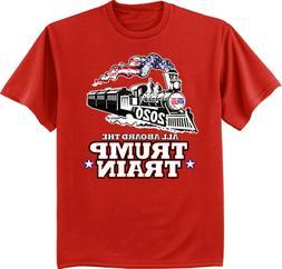 Mens Big and Tall Donald Trump Train 2020 Shirts Graphic Tee