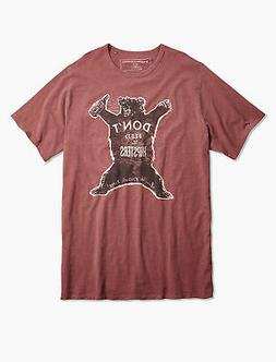 Lucky Brand Men's Big And Tall Hipster Bear Tee