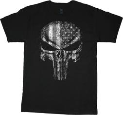 Mens Big and Tall T-shirts American Flag Skull Graphic Tees