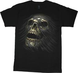 Mens Big and Tall T-shirts Zombie Skull Design Graphic Tees