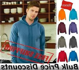 Hanes Mens Blank Ecosmart Hooded Sweatshirt P170 up to 5XL