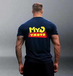 MENS BODYBULDING GYM TSHIRT, GYM STORY, MMA TRAINING, FUNNY