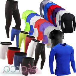 Mens Muscle Compression Baselayers Thermal Under Fitness Shi