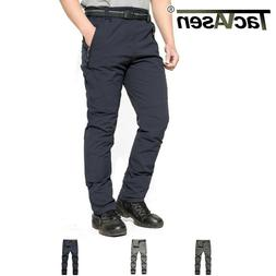 TACVASEN Mens Breathable Quick Dry Anti-Rip Pants W/ Belt Hi