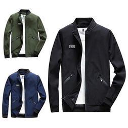 Mens Casual Warm Slim Jackets Tops Coat Baseball Outerwear A