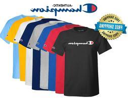mens classic jersey script logo t shirt