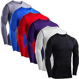 Mens Compression Base Layer Tee T-shirt Thermal Long Sleeve