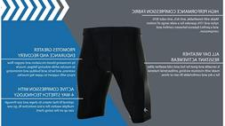 CompressionZ Men's Compression Shorts Black Athletic Worko