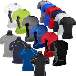 Mens Compression T-Shirt Short Sleeve Base Layer Top Sports