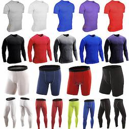 Men Compression Base Layer Workout Fitness Sport Training So