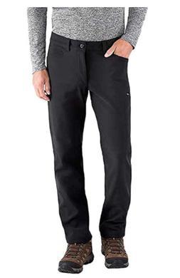 BC CLOTHING, Mens Fleece Lined Softshell Pants 42x32 Black N