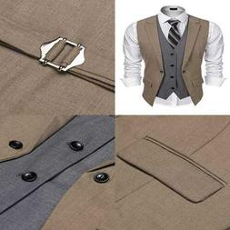 Coofandy Mens Formal Fashion Layered Vest Waistcoat Dress BR