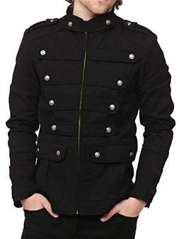 mens gothic military jackets casual band steampunk