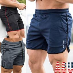 Mens Gym Training Shorts Workout Sports Casual Clothing Fitn