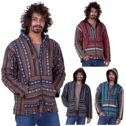 mens hippy jacket mans nepalese baja hippie