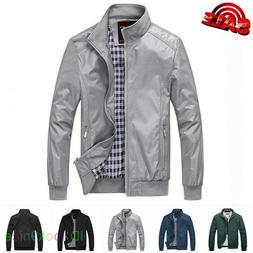 Mens Jacket Summer Lightweight Bomber Coat Casual Outfit Top