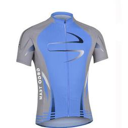 mens outdoor cycling comfortable jersey full zipper