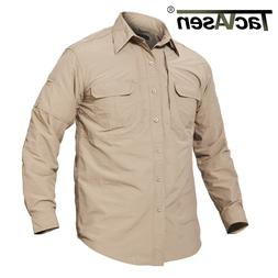 Anti-UV Hiking Shirt Mens Quick Dry Military Fishing Camping