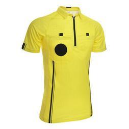 TOPTIE Mens Soccer Referee Jersey Pro Short Sleeve Referee S