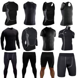 Mens Sport Compression Tights Base Layer Under Long Pants Ve