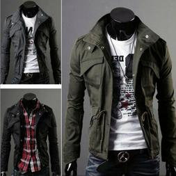Mens Stylish Casual Jacket Coat Slim Fit Clothes Winter Warm