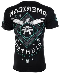 AMERICAN FIGHTER Mens T-Shirt ABRAHAM Eagle BLACK Athletic B