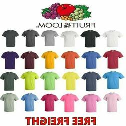 Fruit of the Loom Mens T-Shirts HD 100% Cotton Short Sleeve